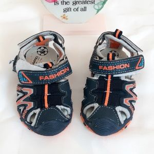 Baby Boy Blue and Orange Sandals Shoes